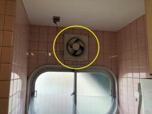 名古屋市港区の商業ビルにて換気扇の取替電気工事