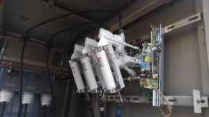 名古屋市中区の工場にてキュービクル内設備(LBS、GR、ZCT)の更新電気工事