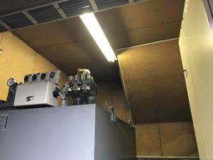 名古屋市港区の倉庫にて照明用電線の配線引き直し工事