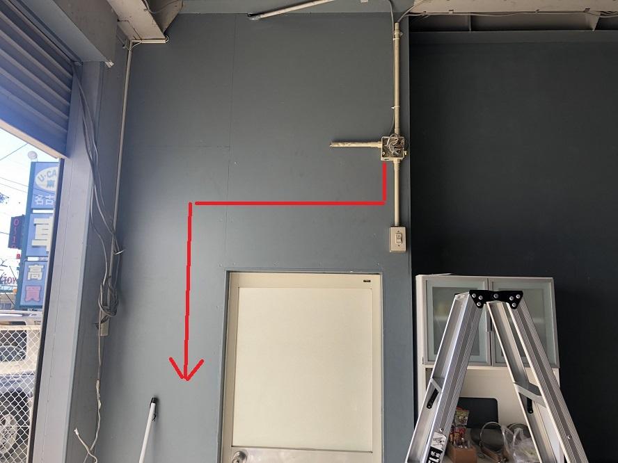 名古屋市港区の倉庫にてコンセントの増設電気工事