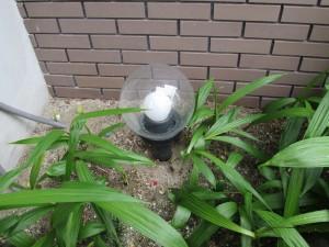 庭園ポール外灯取替工事-A01