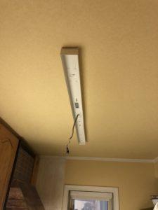 名古屋市緑区の戸建住宅にてキッチン照明をLED照明へ取替電気工事