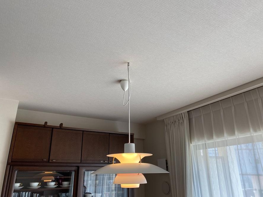 名古屋市千種区の戸建住宅にてペンダントライトのコード長調節及び取付電気工事