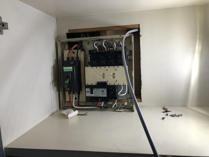 名古屋市名東区のマンションにて200Vコンセントの増設電気工事
