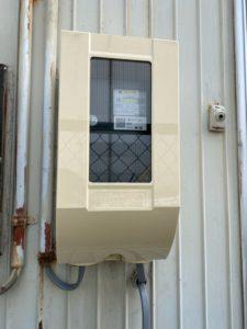 名古屋市港区の運輸会社にて低圧電力の引込電気工事